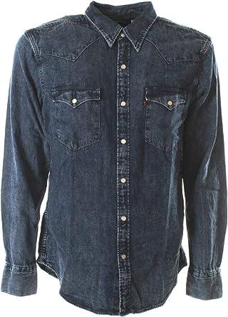 Levis de los Hombres Camisa estándar Occidental de Barstow, Azul