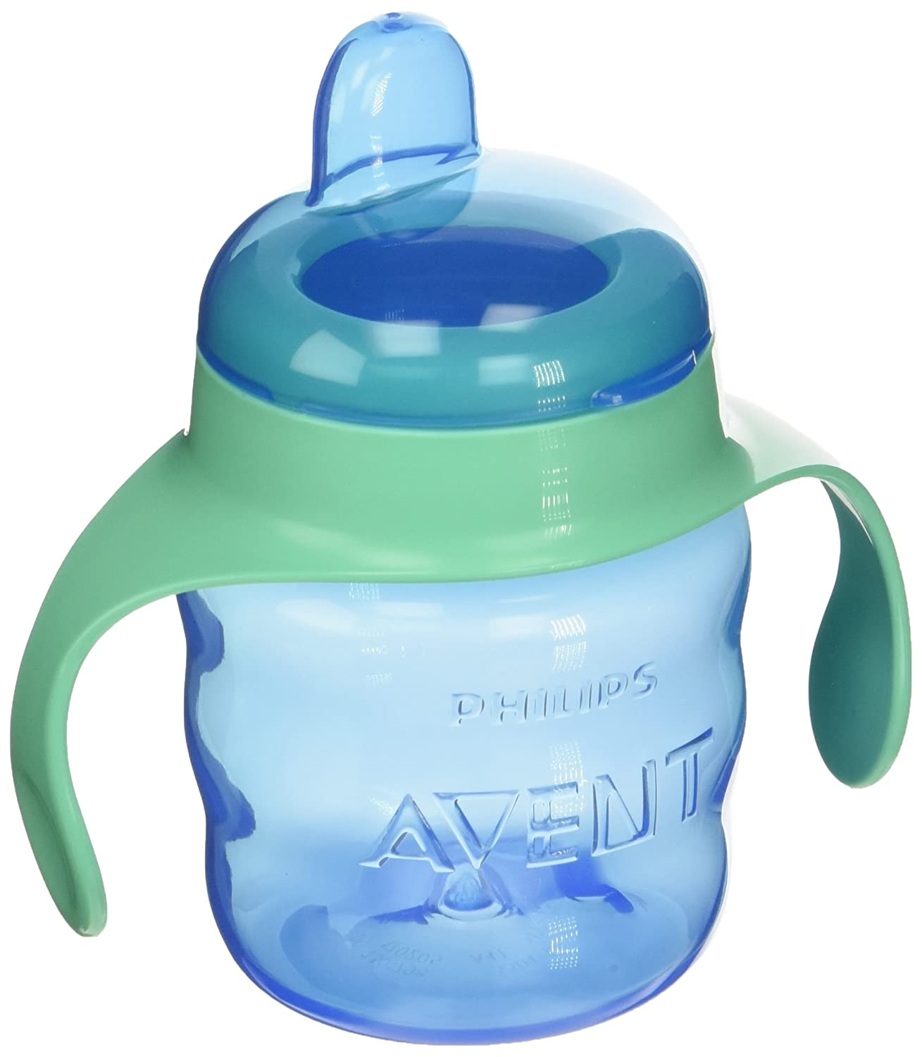 Philips AVENT SCF551/22 My Easy Sippy Classic Spout Cup 7oz, 2pk (Purple & Pink OR Blue & Green)