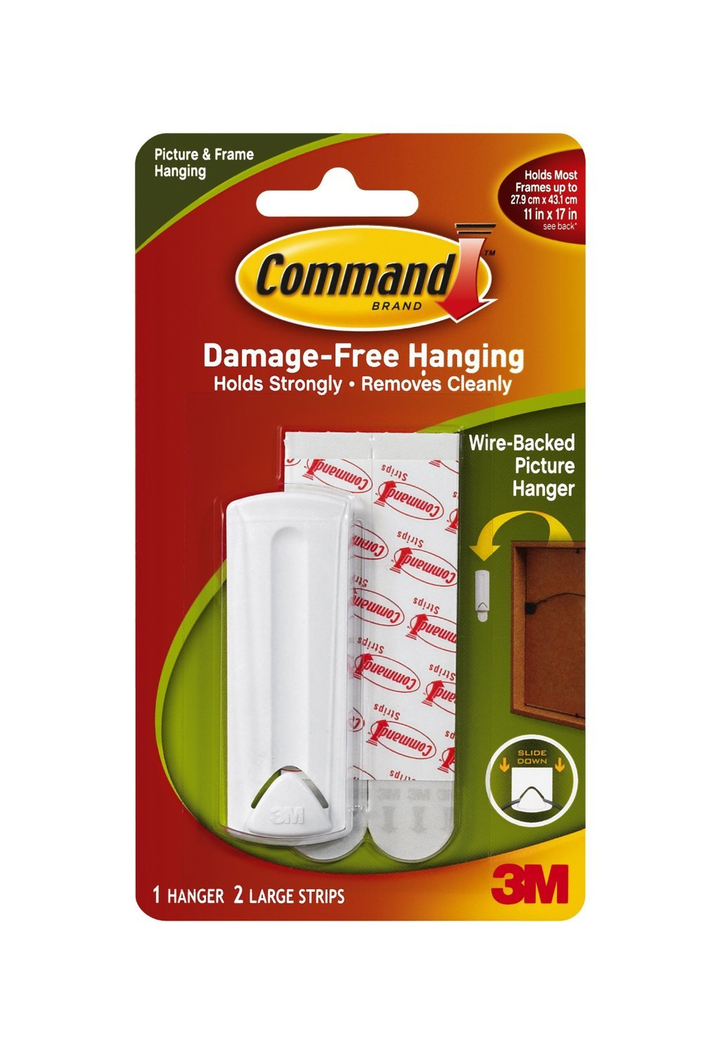 17043-ES Command 4-Packages of Wire-Back Hangers