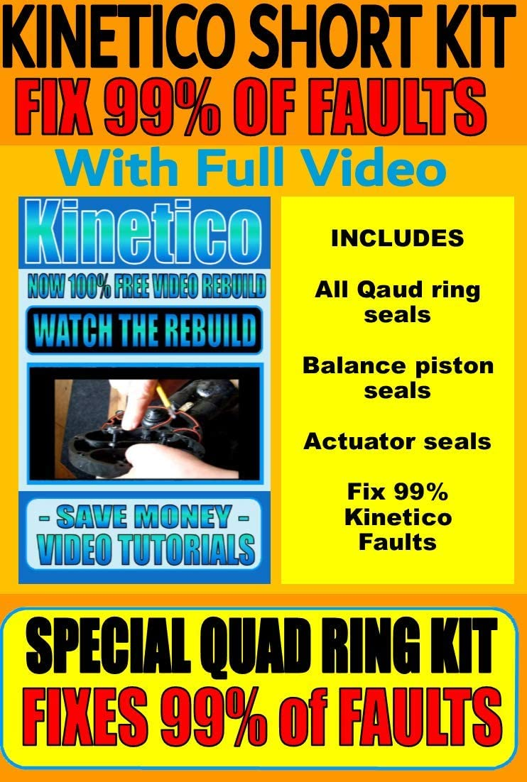 Kinetico Water Softener Main Level Base Seal and a Set of Control Valve Seals