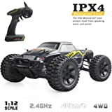 VCANNY Large Size 1:12 Scale Electric Remote Control Truck with High Speed 40km/h 4WD 2.4Ghz, Radio Controlled Off Road RC Car Electronic Monster Truck R/C RTR Hobby Grade Cross- Country Car Buggy