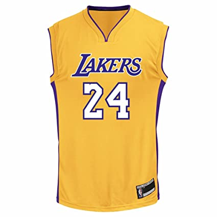 484c208d2 OuterStuff Kobe Bryant Los Angeles Lakers  24 Youth Home Jersey Gold (Youth  Small 8