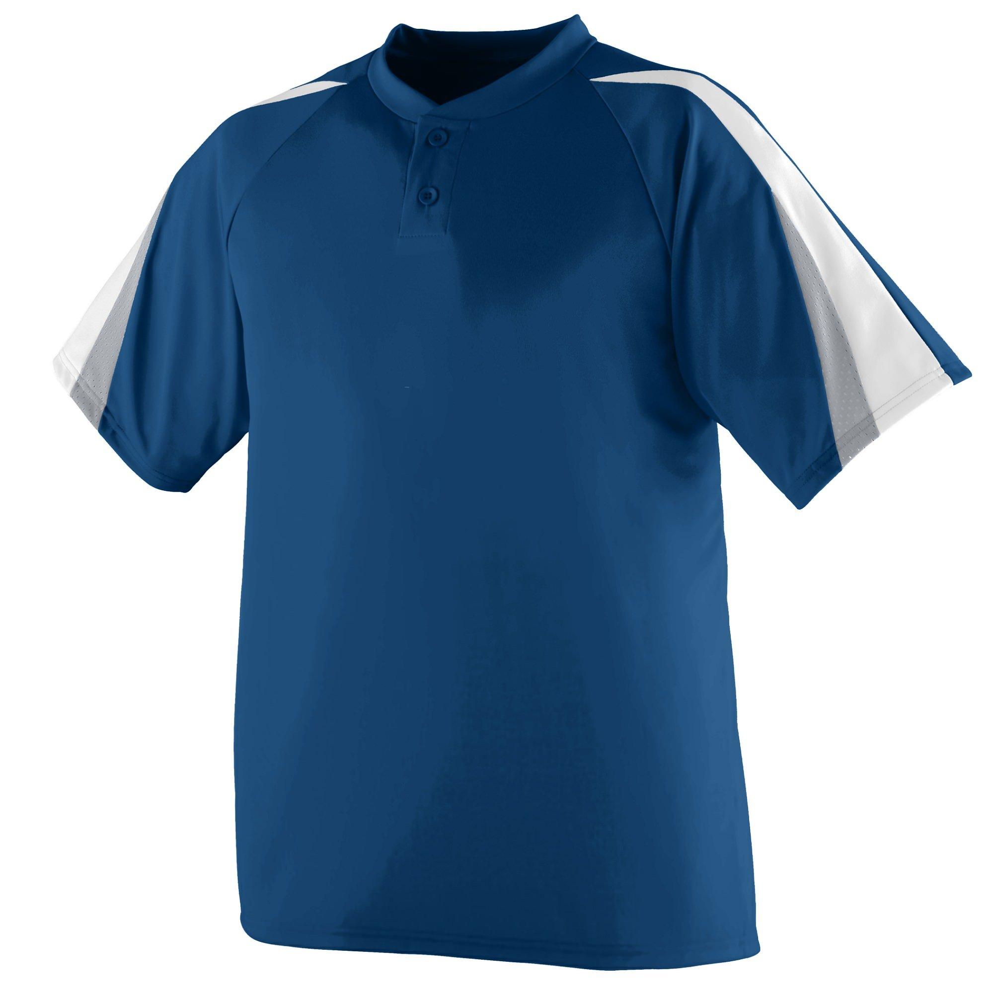 Augusta Sportswear Power Plus Jersey S Navy/White/Silver Grey by Augusta Sportswear