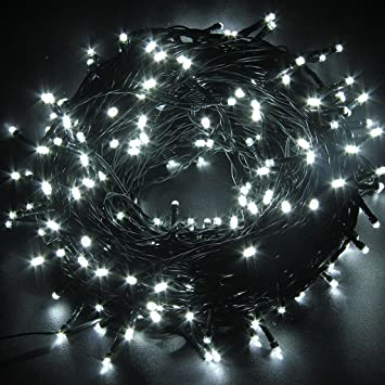 led string lights white 50m164ft 250 leds waterproof 8 modes for indoor outdoor