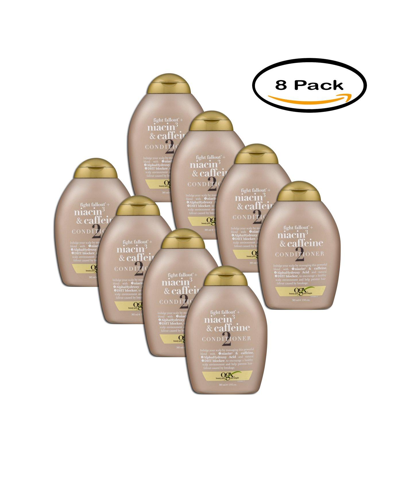 PACK OF 8 - OGX Niacin3 & Caffeine Conditioner, 13.0 FL OZ by OGX