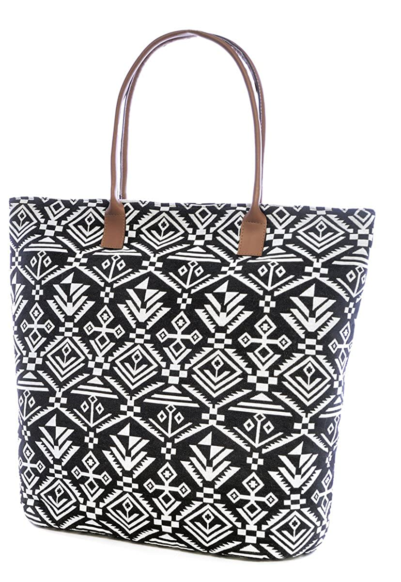 Womens Summer Floral Print Paper Straw Beach-Pool-Swim-Tote-Shopping Large Bag