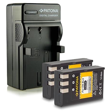 Bundle - 4en1 Cargador + 2x Batería EN-EL9 / EN-EL9a para Nikon D40   D40x   D60   D3000   D5000