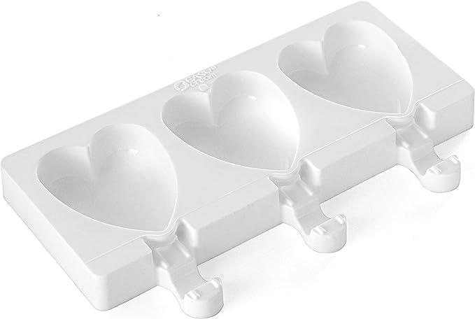 Image ofsilikomart Finger Food Herz - Molde para Helados pequeños con Forma de corazón, Color Blanco