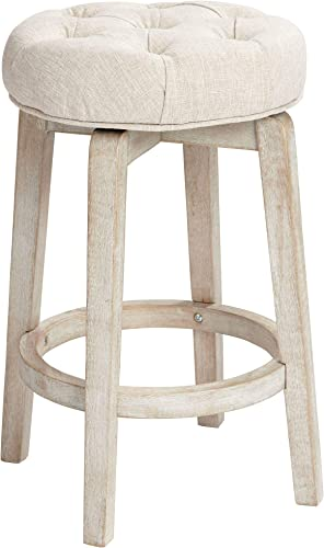 Shelby Tufted White Wash Counter Stool