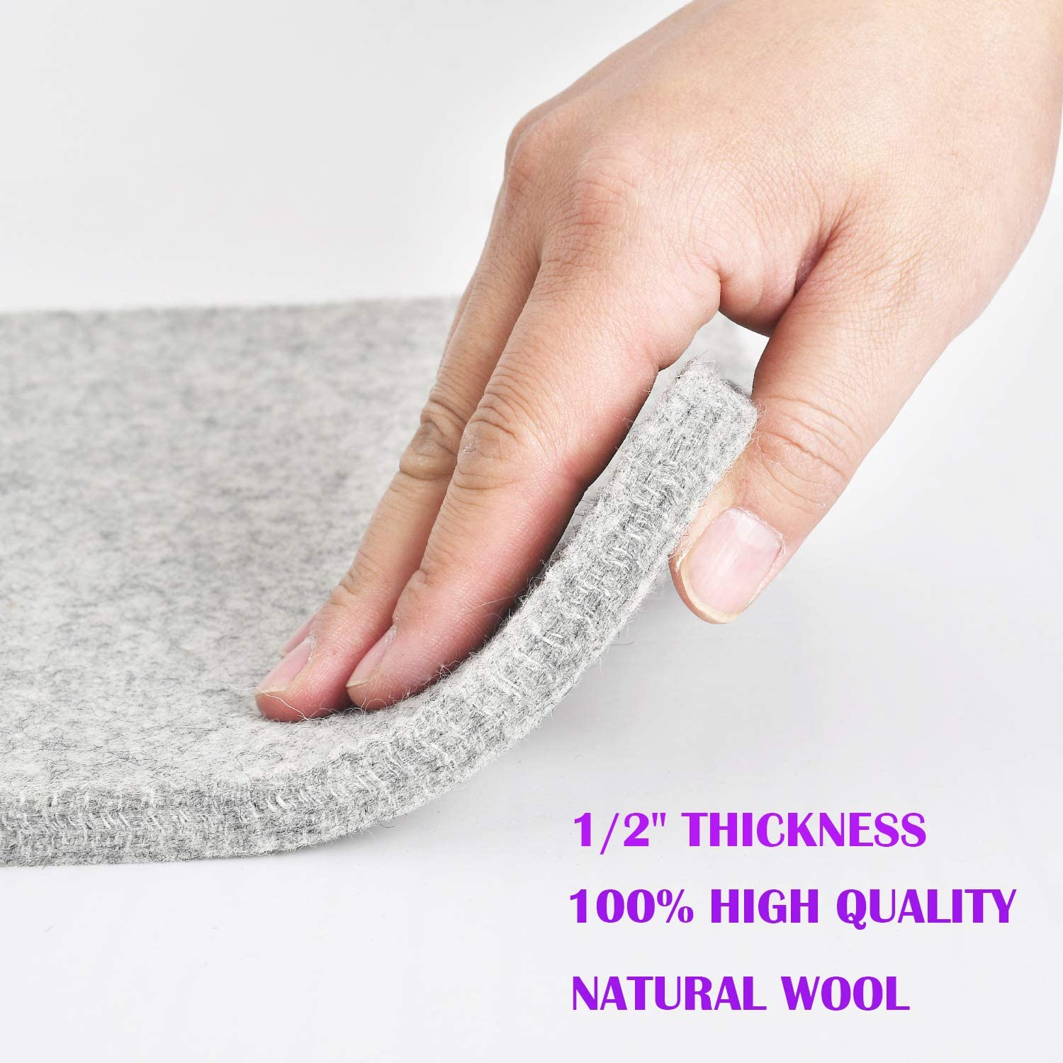 Rdutuok 17x13.5 Inches Wool Pressing Mat for Quilting Ironing Pad Easy Press Wooly Felted Iron Board for Quilters Retains Heat Great for Quilting /& Sewing Projects
