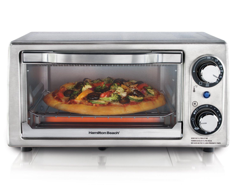 Hamilton Beach 31138 Stainless Steel 4-Slice Toaster Oven
