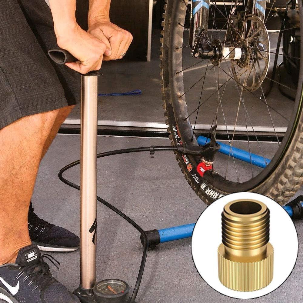 MIZOMOR 4Pcs Presta a Schrader Adaptador de v/álvula de lat/ón para bicicleta con junta t/órica Adaptador de bicicleta con bomba est/ándar o compresor de aire