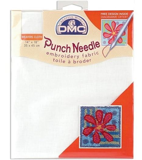 Amazon.com: DMC dc087-white Punch Needle bordado Tela, 14 ...