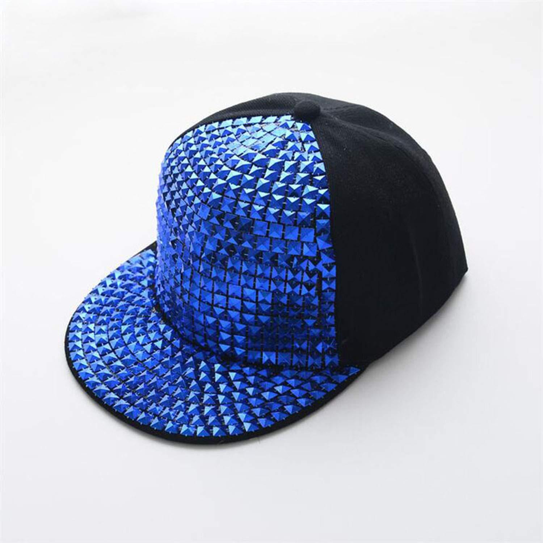 Kids Fashion Rivet Hip Hop Snapback Hats Gold Silver Crystal Brand Baseball Cap Luxury Parent-Child Cap Gorras