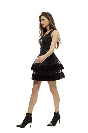 a07f095bab5ea8 Armario Lulú Dress Joane Black Cleavage: Amazon.co.uk: Clothing