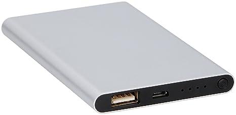 Grundig - Batería Externa para Ordenador portátil (4000 mAh), Color Plateado