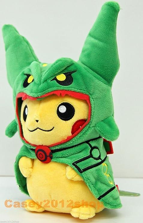 Pokemon Center Muñeco de peluche disfraz de Mega Rayquaza verde ...