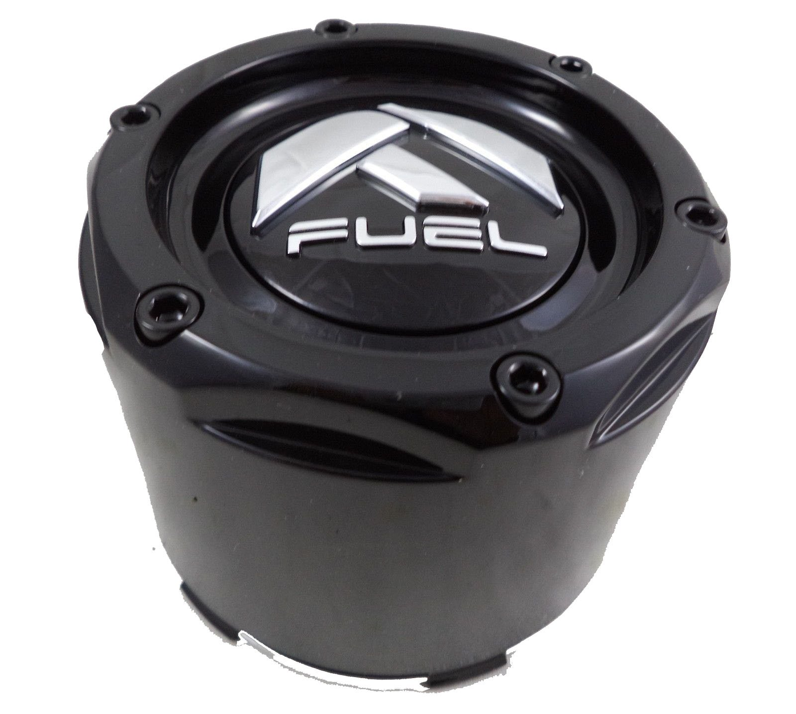 Fuel Gloss Black Rivets Custom Wheel Center Caps Set of Four (4) 1003-50B by Fuel (Image #1)