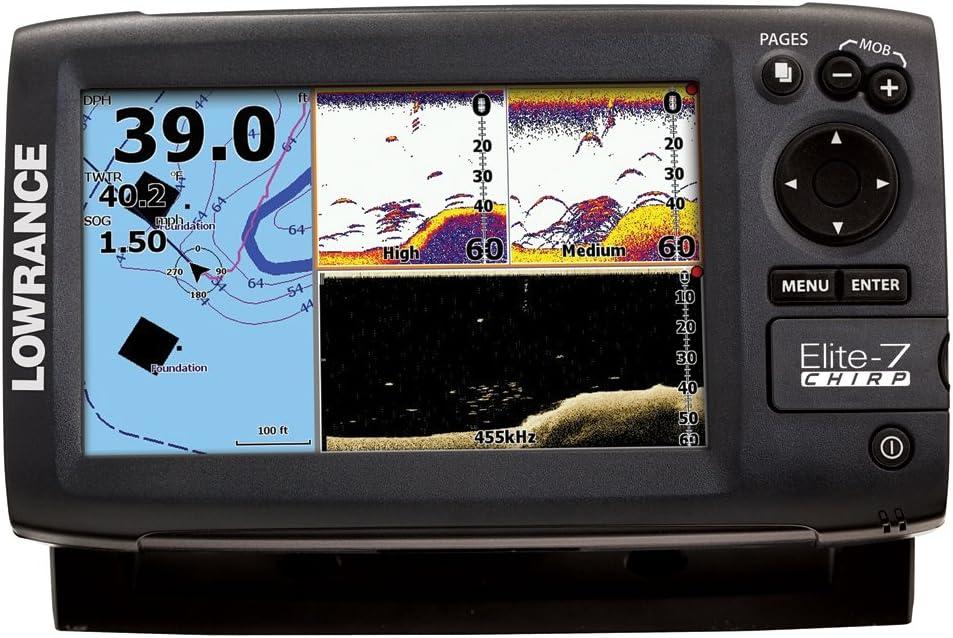 000-11658-001 Lowrance Elite-7 CHIRRIDO Fishfinder-plotter Oro ...