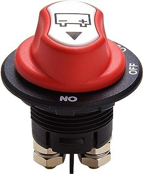 Qiorange Auto Batterie Trennschalter Hauptschalter 100a On Off Out Einbau Stromschalter Für Motorrad Lkw Kfz Boot 12v 24v Bis 32v Type M 1 Stück Auto