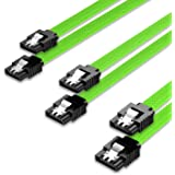 QIVYNSRY 3PACK SATA Cable III 3 Pack 6Gbps Straight HDD SDD Data Cable with Locking Latch 18 Inch for SATA HDD, SSD, CD…