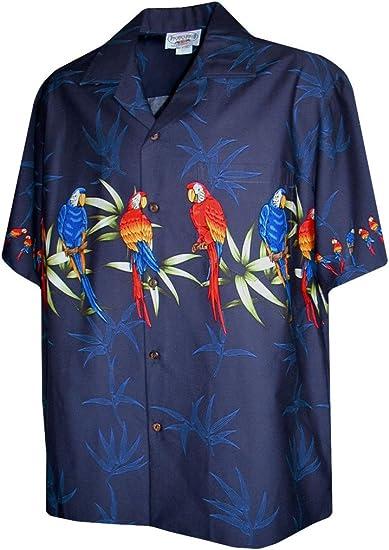 Hawaiian Aloha Shirt Tropical Parrot Hawaiian Shirts Mens Hawaiian Shirts