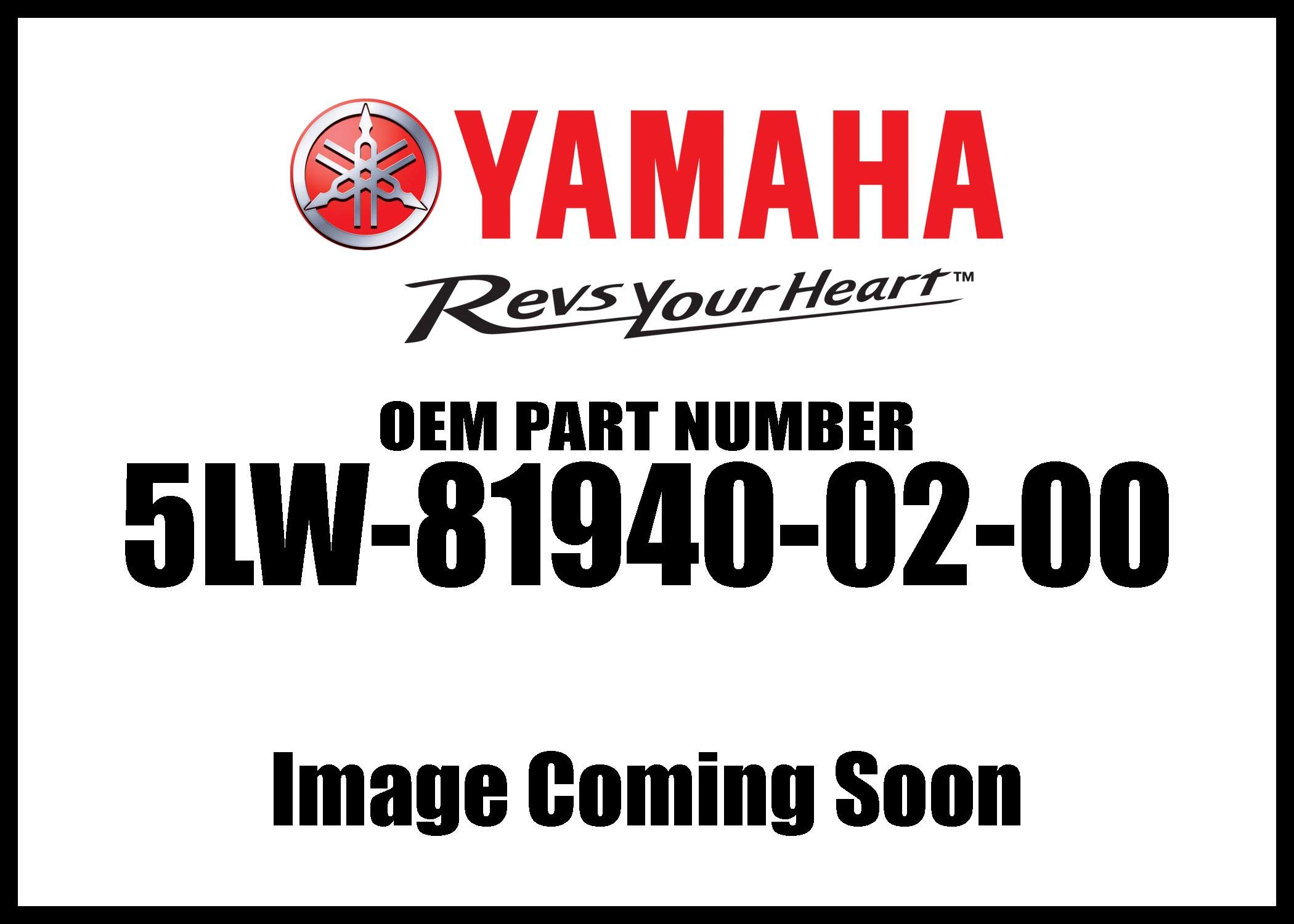 Yamaha 5LW-81940-02-00 Starter Relay Assy; ATV Motorcycle Snow Mobile Scooter Parts by Yamaha