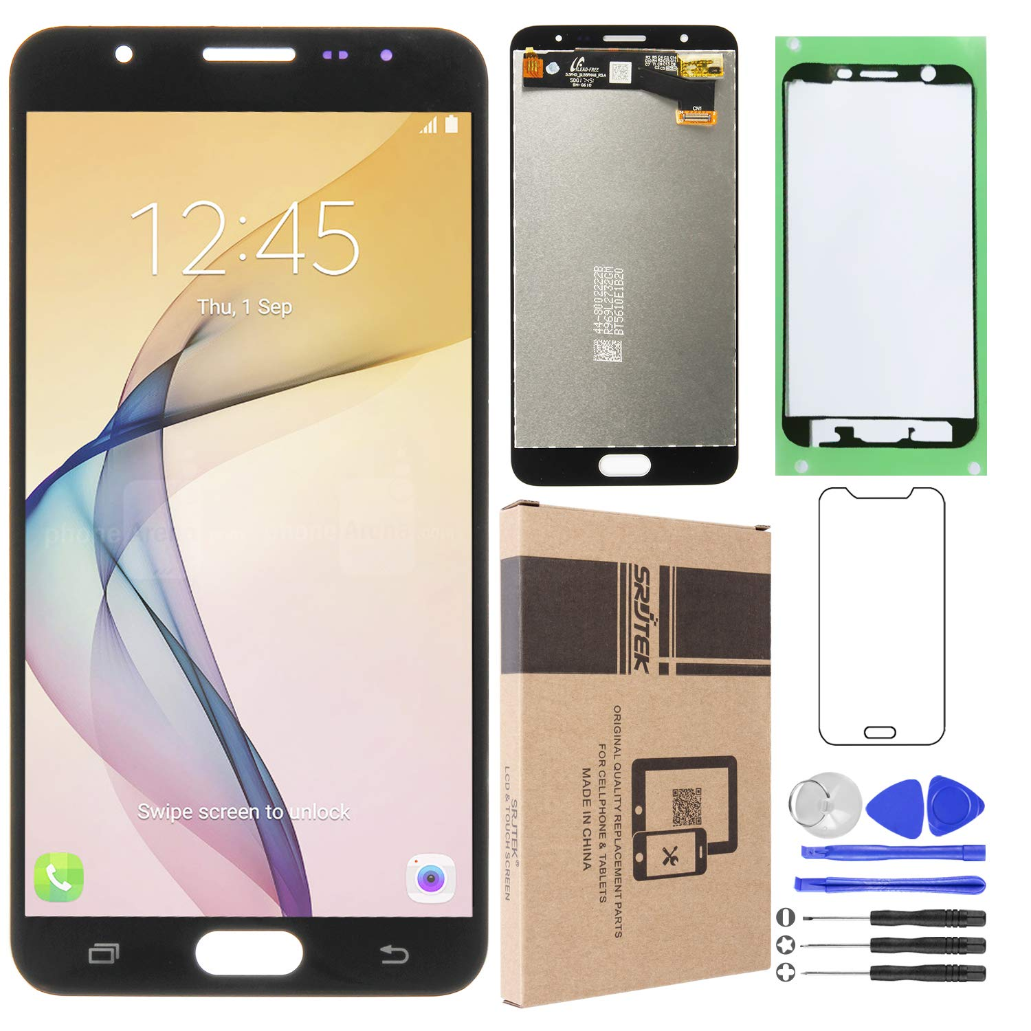Srjtek Replacement Parts for Samsung Galaxy J7 Prime G610 G6100 G610F SM- G610M/DS SM-610F/DS On7 2016,with Touch Screen Digitizer,Tools Include