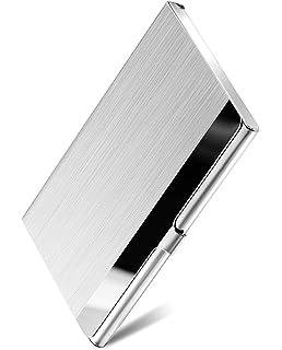 High-End Stainless Steel Business Name Card Holder Display Desktop Organizer Hot