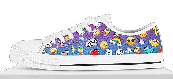 d38c2fdf1d80 Amazon.com  Girls Emoji Shoes Custom Emoji Shoes