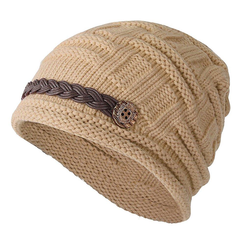 Frauen Hut Winter Baggy Snowboard Knit Schnee warme Mütze Mütze Häkelmütze