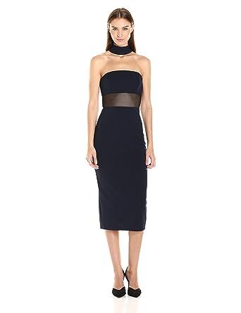 73337b5349d21 ABS Allen Schwartz Women s Fitted Dress Choker Neckline in Stretch Crepe  Scuba  Amazon.in  Clothing   Accessories