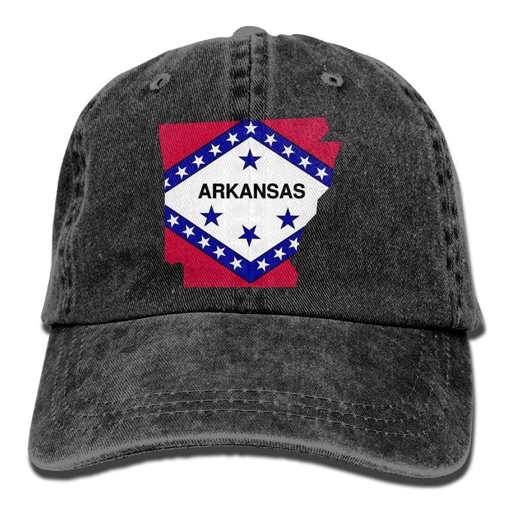 SDFS83 Arkansas Adult Cowboy Hat Baseball Cap Adjustable Athletic Make Custom Best Hat For Men and Women