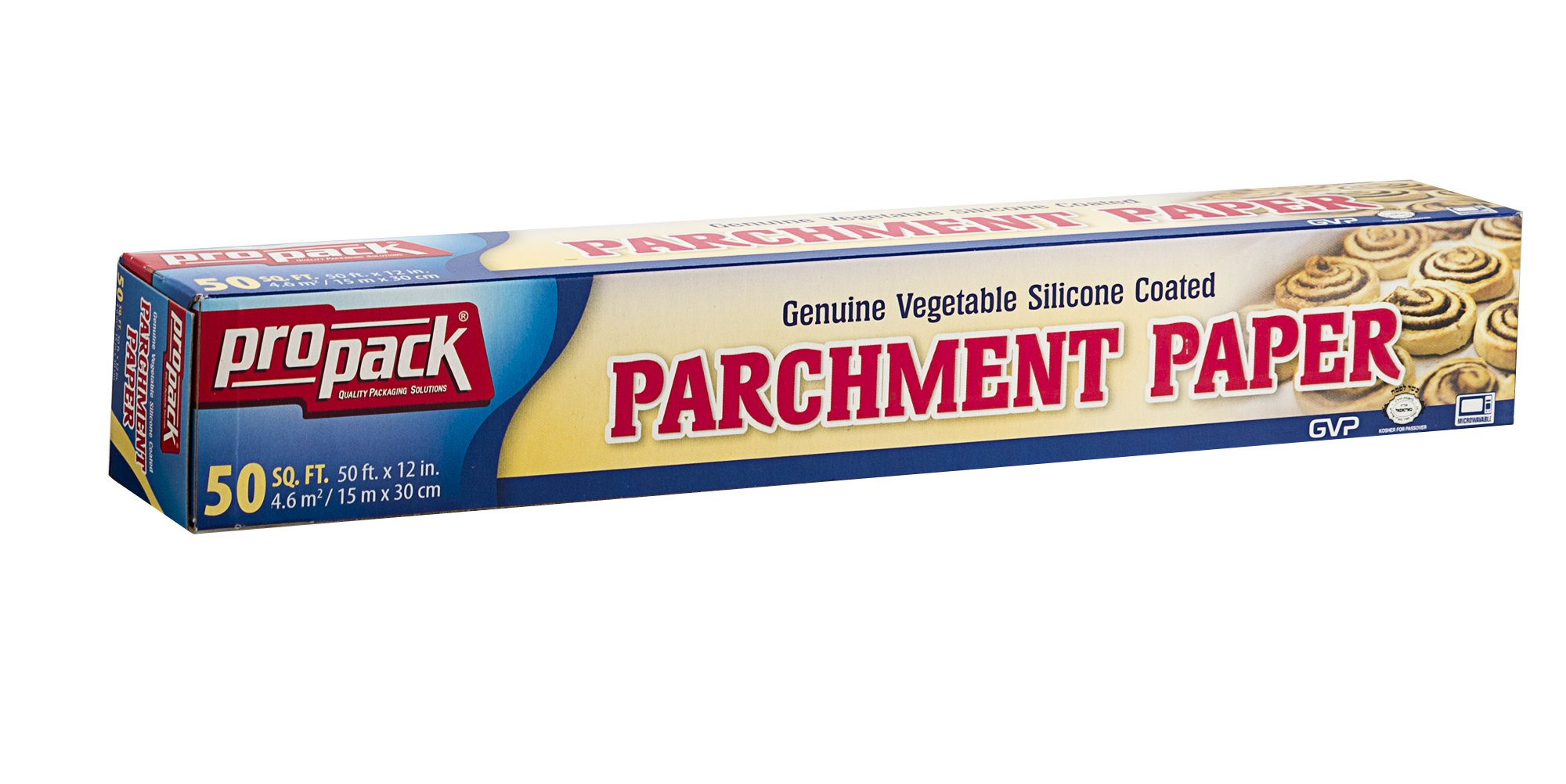 Propack Non Stick Parchment Baking Paper 12 x 50 Pack Of 2