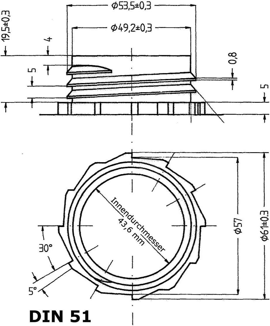 22021 Bec verseur flexible DIN 51
