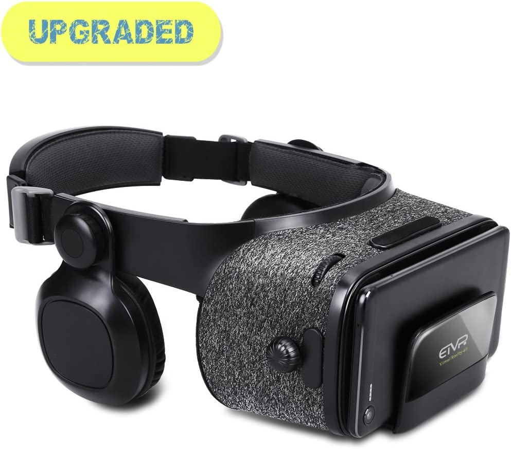 9f21aeea524d Amazon.com  3D VR Headset - Virtual Reality Headset for VR Games   3D Movies  with Stereo Headphones