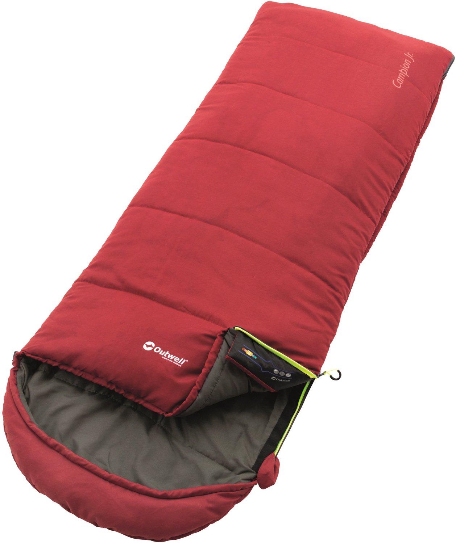 Outwell Niños Campion Saco de Dormir, Color Rojo, tamaño 170 x 65 cm, 1 230231