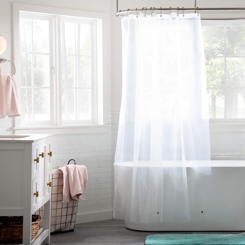 Bathroom Liner - Mildew Resistant- Heavy Duty PEVA Waterproof Material ,Shower Curtain Liner size, 72