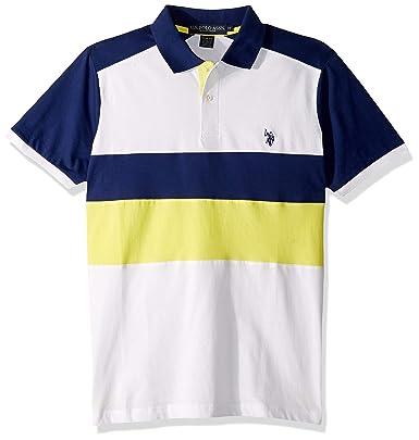 U.S. Polo Assn. Polo para Hombre Slim Fit Color Block - Amarillo ...