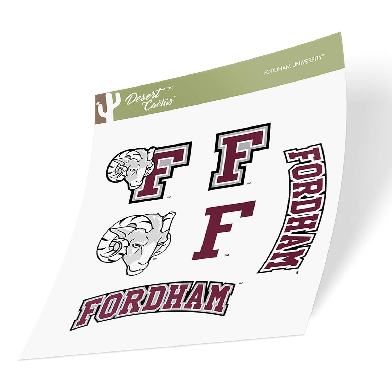 Fordham University FU Rams NCAA Sticker Vinyl Decal Laptop Water Bottle Car Scrapbook Full Sheet