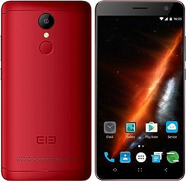 elephone A8 Smartphone 5.0 Pulgadas de Pantalla Android 7.0 con MT6580 Quad Core 1.3GHz 1GB RAM 8GB ROM 1800mAh Batería Dual SIM Dual Standby GPS WiFi Bluetooth Fingerprint-Rojo: Amazon.es: Electrónica