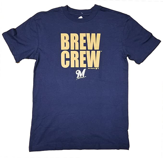 a85c7878d6633 Amazon.com  Milwaukee Brewers Youth Navy Blue