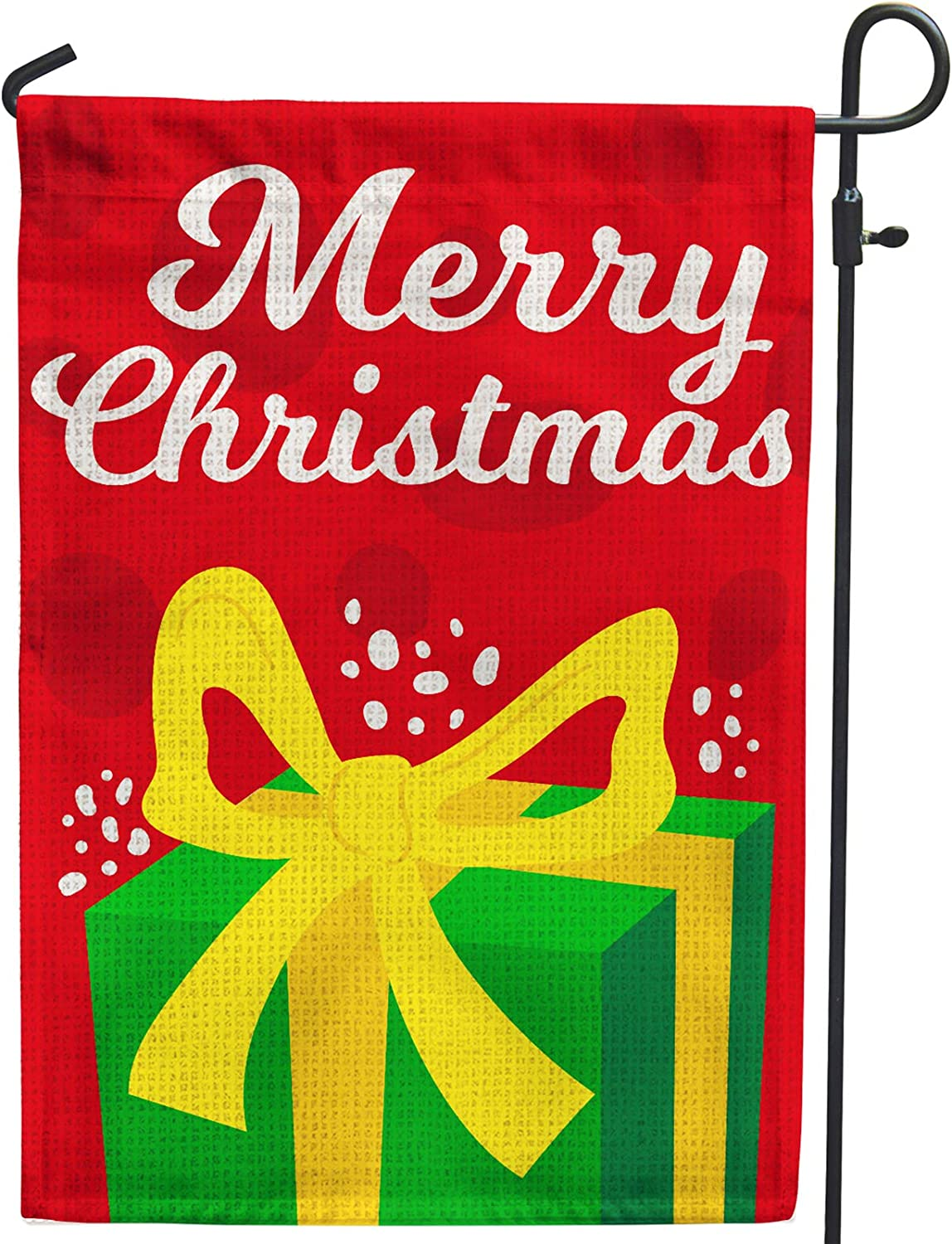 Hollyhorse Merry Christmas Garden Flags for Outside Decoration - 12x18 Double Sided Burlap Flag for Outside Yard Outdoor Decoration & Decor