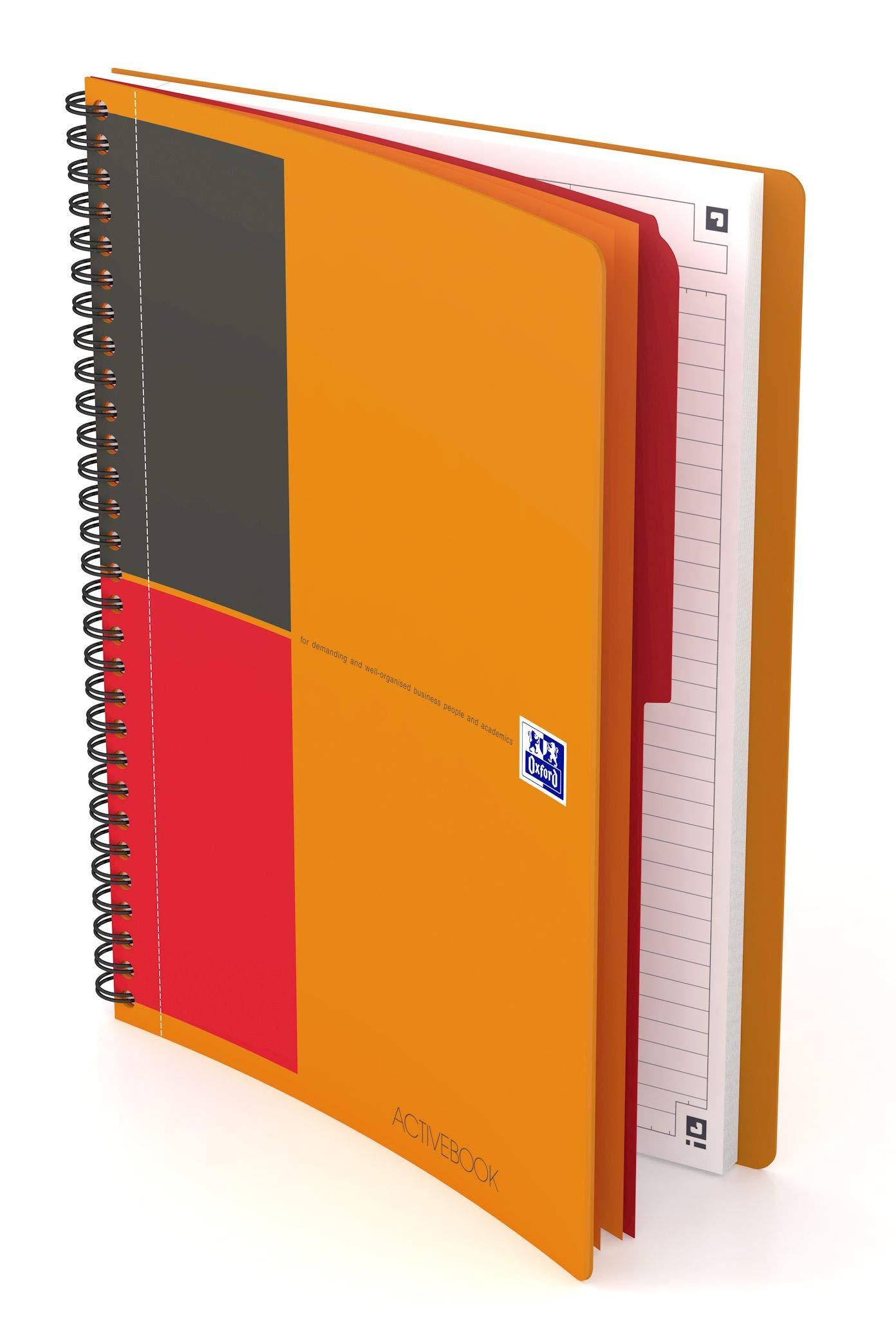 Oxford Activebook International 400080787 B5 Pack of 5 Orange