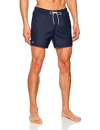 bff4f817e71 Lacoste Men's Taffeta Swim Shorts Navy | Amazon.com