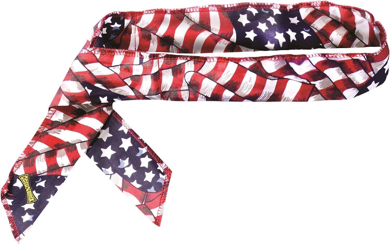 MIRACOOL COOLING BANDANA - WAVY FLAG - 12 PIECE PACK