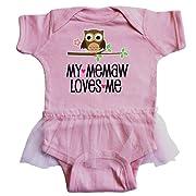 inktastic - My Memaw Loves Me Girl Owl Infant Tutu Bodysuit 6 Months Pink 2d666