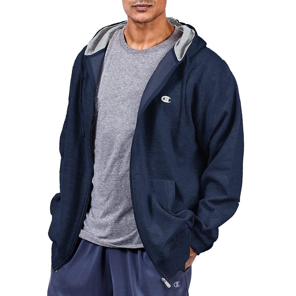 Champion Big & Tall Men's Zip Fleece Hoodie,,Navy,,XLT,2PK by Champion