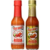Marie Sharp's HOT and FIERY HOT Habanero Pepper Sauce 5oz (Pack of 2)