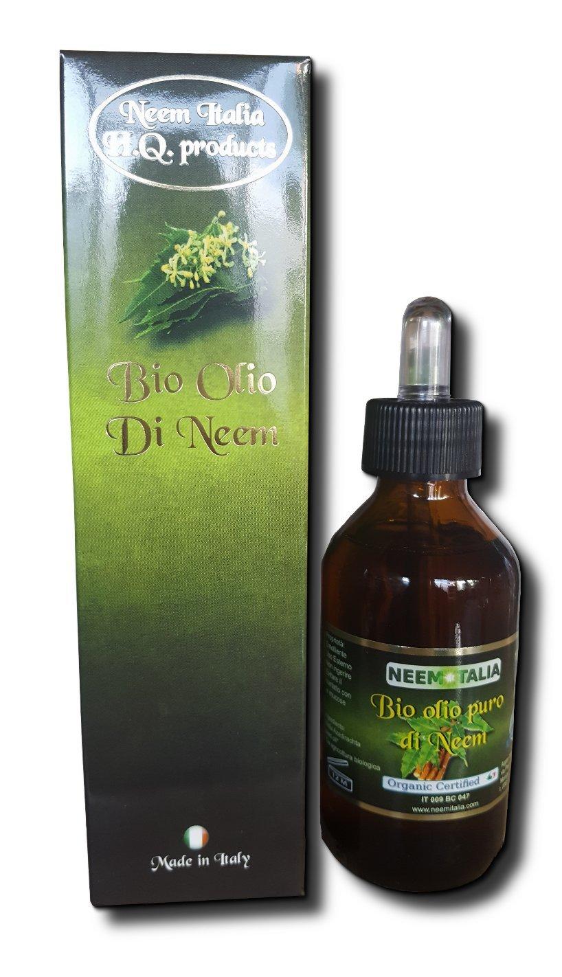 Olio di Neem puro biologico certificato da 100ml. Argan Italia